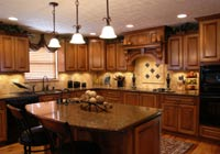 after restoration photo a fully restored kitchen by Jacobs Construction
